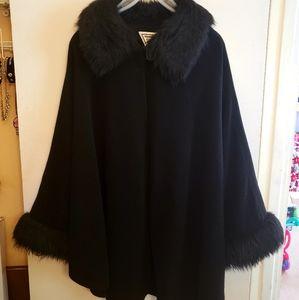 Vintage Marvin Richards 3x/4x Black Wool Cape